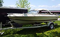 1983 Doral 16 foot Runabout with trailer for sale in the Lindsay area northeast of Toronto, Ontario, Canada.