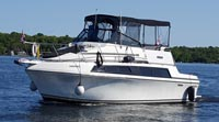 1987 Carver 3297 Mariner for sale in the Lindsay area northeast of Toronto, Ontario, Canada.