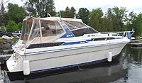 1988 Silverton 34X for sale in the Bobcaygeon area northeast of Toronto, Ontario, Canada.