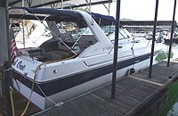 1989 Regal 360 Commodopre for sale in the Lake Simcoe area north of Toronto, Ontario, Canada.