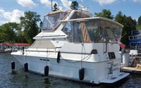 1990Sea Ray 380 Aft for sale in the Lindsay area northeast of Toronto, Ontario, Canada.