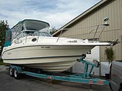 1995 Rinker 260 Fiesta Vee sold in the Lindsay area north east of Toronto, Ontario, Canada.