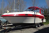 1996 Four Winns 258 for sale in the Lindsay area northeast of Toronto, Ontario, Canada.