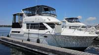 1998 Carver 405MY sold by a marine, boat and yacht broker in the Pickering, Whitby, Bowmanville, Peterborough, Belleville, Trenton and Brighton areas of  Ontario, Canada.