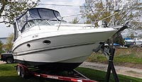 2002 Monterey 282 sold  by a marine boat and yacht broker in the Pickering, Whitby, Bowmanville, Peterborough, Belleville, Trenton and Brighton areas of  Ontario, Canada.