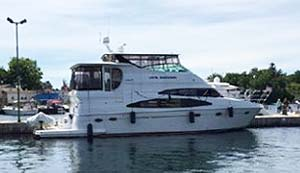 1989 Trojan Yachts 12 Meter Convertible For Sale In Whitby By Ontario marine, boat and yacht brokers offering power boats and sailboats for sale in the Kingston, Whitby, Brighton, Trenton And Belleville Areas Of Ontario Canada.