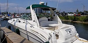 2001 Sea Ray 340 Sundancer for sale in the Whitby area east of Toronto, Ontario, Canada by Ontario boat and yacht brokers.