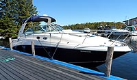 2004 Sea Ray 320 Sundancer sold by a marine, boat and yacht broker in the Pickering, Whitby, Bowmanville, Peterborough, Belleville, Trenton and Brighton areas of  Ontario Canada.