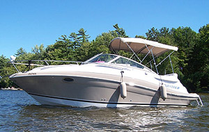 2006 Four Winns 258 for sale in the Trenton area east of Toronto by Ontario marine, boat and yacht brokers offering power boats and sailboats for sale in the Kingston, Whitby, Brighton, Cobourg, Trenton And Belleville Areas Of Ontario Canada.