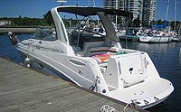 2005 Rinker 270 Fiesta Vee sold by a marine, boat and yacht broker in the Pickering, Whitby, Bowmanville, Peterborough, Belleville, Trenton and Brighton areas of  Ontario Canada.