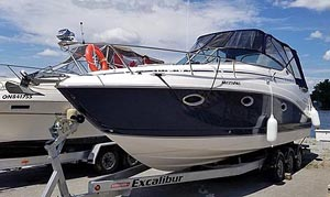2008 Rinker 280 for sale by Ontario marine, boat and yacht brokers offering power boats and sailboats for sale in the Kingston, Whitby, Brighton, Cobourg, Trenton And Belleville Areas Of Ontario Canada.