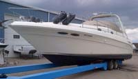 2000 Searay 340 Sundancer for sale in the Lindsay area northeast of Toronto, Ontario, Canada.
