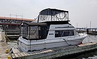 1986 Carver Voyager 2827 for sale in the Belleville area east of Toronto, Ontario, Canada.