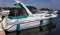 1994 Thundercraft 350 Express MC for sale in the Trenton area east of Toronto, Ontario, Canada by Ontario boat and yacht brokers.