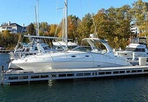 2003 Sea Ray 340 Sundancer for sale in the Whitby area east of Toronto, Ontario, Canada by Ontario boat and yacht brokers.