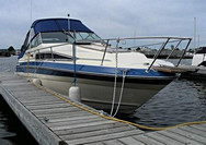 1987 Sea Ray 268 Sundancer - This boat was for sale and sold in the Toronto or Kawartha lakes area of Ontario, Canada.