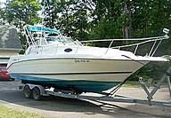 1994 Rinker 265 Fiesta Vee - This boat was for sale and sold in the Toronto or Kawartha lakes area of Ontario, Canada.